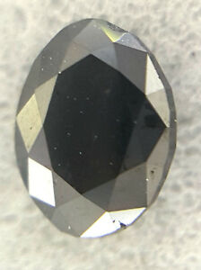 0.31TCW Black Color Oval shape Full cut Antique African Natural Loose Diamond