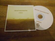 CD Indie Mount Washington-LISBOA (1 chanson) PROMO Glitterhouse