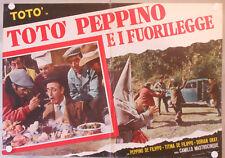 TOTò PEPPINO E I FUORILEGGE Fotobusta Poster CULT ITALIAN DE FILIPPO ROMA COMIC