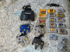 N64 game lot (Mario, Donkey Kong) w/ Nintendo 64 System, Controllers + more