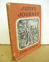 Judy's Journey by Lois Lenski 1947 HB/DJ First Edition
