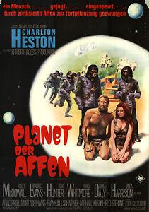 Planet der Affen ORIGINAL A1 Kinoplakat Charlton Heston / Roddy McDowall ZUSTAND