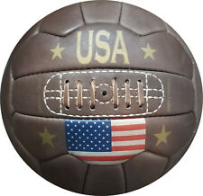 USA - Vintage Leather Soccer Ball 1966 -- 100% leather | TOP SELLER
