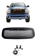 For 13 18 Dodge Ram 1500 Grille Raptor Style ABS Replacement With 3 LED Light