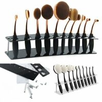 10 Hole Drying Rack Storage Display Bracket Shelf Holder Toothbrush makeup brush