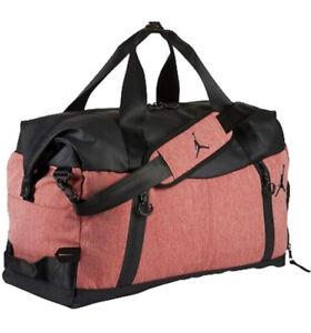 Nike Jordan Airborne Weekender Duffle Bag (One Size, Gym Red Heather)