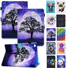 Cute Smart Pattern Leather Wallet Case Cover for iPad 4 5/6th Gen/Air 3/Pro/Mini