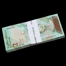 Bundle Lot 100 PCS, Venezuela 2 Bolivares, 2018, P-NEW, NEW ISSUE, UNC
