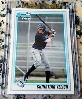 CHRISTIAN YELICH 2010 Bowman #1 Draft Pick Rookie Card RC Brewers $$ HOT $$