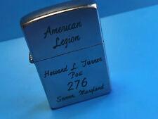 Vtg Calkor Cigarette Lighter American Legion Howard L.Turner Post #276 Severn Md