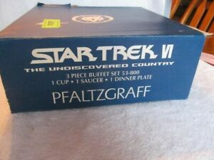 Star Trek VI Undiscovered Country Buffet Banquet Set Pfaltzgraff New Open Box