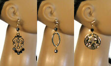 "Crystal Earring Set Jet Black Jewelry 16"" Fashion Doll Tonner JamieS Ellowyne"
