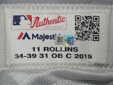 Jimmy Rollins #11 Mlb La Dodgers Team issued Road Baseball Pants 2015 Hz 836101
