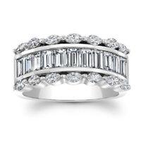 Gorgeous Women 925 Silver Wedding Rings Emerald Cut White Sapphire Ring Size6-10
