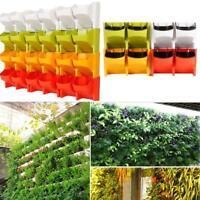 Self Watering 2-Pocket Stackable Vertical Garden Wall Hanging Planter Flower Pot