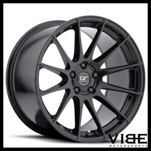 "19"" MRR GROUND FORCE GF6 BLACK CONCAVE WHEELS RIMS FITS BMW E39 528i 530 540"