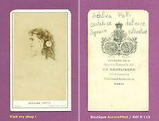 CDV REUTLINGER à PARIS : ADELINA PATTI, CANTATRICE ITALIENNE SOPRANO OPÉRA -N115