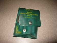 Irwin Industrial Quality Hanson Spiral Screw Extractors 5 Piece 52435 Used
