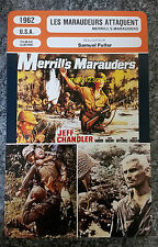 US War Movie Merrill's Marauders Jeff Chandler Ty Hardin French Film Trade Card
