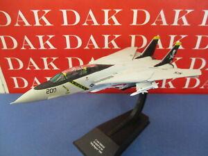Die cast 1/100 Modellino Aereo Aircraft Grumman F-14A Tomcat US Navy Jolly Roger