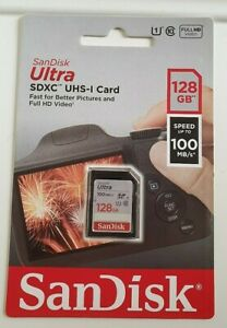 SanDisk Ultra 128GB  SDXC SD Card Class 10 UHS-I Memory Card 100MB/S For Camera