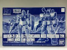 Premium Bandai Hg Rgm-79 Gm & Rx-77D Guncannon Mass Production White Dingo Team