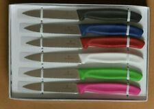 KITCHEN KNIFE HOLIDAY GIFT SET 6 VICTORINOX SWISS 4 INCH WAVY EDGE ULTRA SHARP