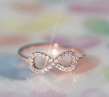 Perfect INFINITE / INFINITY Ring in 3 colors (Silver, Rosegold,Gold )/