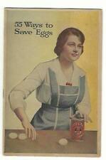 1917 55 Ways To Save Eggs Royal Baking Powder Cookbook Economy In Baking