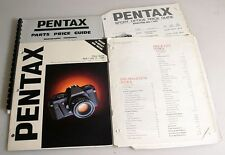 PENTAX PARTS PRICE GUIDE, 1988, 1986