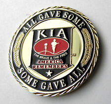 "KIA ALL GAVE SOME SOME GAVE ALL PATRIOTIC SERIES CHALLENGE COIN 1.6"" NEW IN CASE"