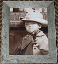 8x10 Flat style rustic barnwood barn wood weathered western picture photo frame