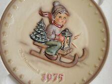 "Vintage 1975 Goebel Hummel 5th Annual Plate ""Ride Into Christmas"" Original Box"