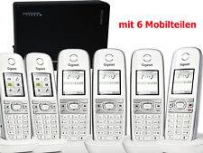 Siemens gigaset c610h DECT inalámbrico teléfono con Aton cl303 6er set 6 partes móviles