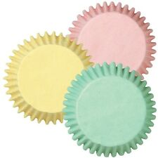 Wilton Asst PASTEL Colours Cupcake Baking Cups - pack 75 - pink, yellow, green