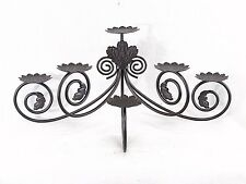 PartyLite Fireplace Pillar Candle Holder Metal Tiered Centerpiece Leaf Motif