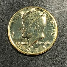 1971-P  KENNEDY HALF DOLLAR GOLD GILDED STUNNING GEM SELECT CHOICE (MR)