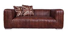 Lamberton Echtleder Vintage 2-Sitzer Ledersofa Designsofa Zweisitzer Sofa dark