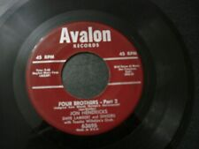 JON HENDRICKS DAVE LAMBERT FOUR BROTHERS PART 1 & 2 RECORD 45