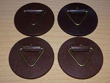 4 x Wandtellerhalter je 40 mm stark klebend bis 0,8 kg Deutsche Ware (NEU & OVP)