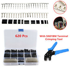 620Pcs 2.54mm Wire Jumper Housing Pin Connector Terminal Crimping Tool 18-26AWG