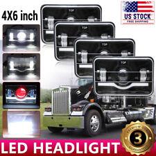 "4x6"" For Kenworth Peterbilt LED Headlights 357 379 378 Hi/Lo Seal Beam H4651"