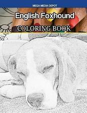 English Foxhound Coloring Book by Mega Depot (2017, Paperback)