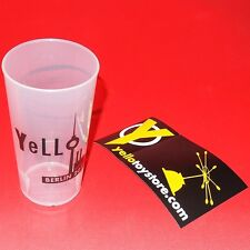YELLO Berlin 2016 promo plastic cup from live show Germany Deutschland Kraftwerk
