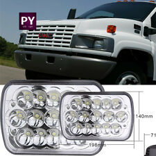 Pair LED Headlight Sealed High Low Beam fit for GMC TopKick C4500 C5500 Trucks