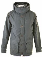 TOMMY HILFIGER Mens Parka Jacket Size 36 Small Green Cotton  EI30