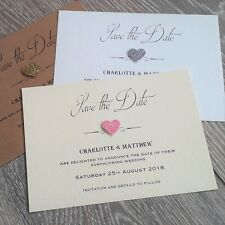 10 Wedding save the date cards personalised, Free envelopes, D7m