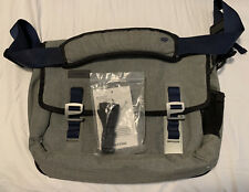 Timbuk2 Grey & Blue Laptop Messenger Bag with Metal Hooks & Unopened Cross Strap