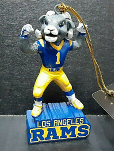 """Los Angeles RAMS NFL 3.5"""" Mascot Statue Ornament by Evergreen 3OT3828MS"""