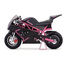 Pink Motorcycle Mini Pocket Bike Electric Battery 500 Watt 36V Boys Girls Youth
